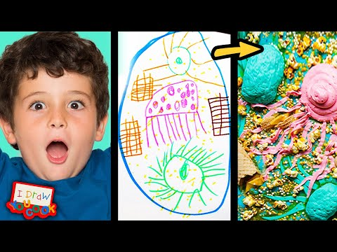 Can These Chefs Turn This Sea Monster Drawing Into Sweet Desserts? •Tasty