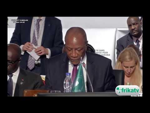 COTE D'IVOIRE :SOMMET UA-UE, le discours de ALPHA CONDE