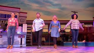 Waitress the Musical - first curtain call with Sara Bareilles and Gavin Creel