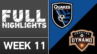 HIGHLIGHTS: San Jose Earthquakes vs Houston Dynamo   May 11, 2016 by Major League Soccer