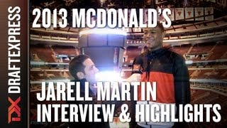 Jarell Martin - 2013 McDonald's All-American Game - Interview & Practice Highlights