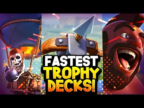 Top 3 FASTEST Cycle Decks For TROPHY PUSHING 2019 (Best Ladder Win %)