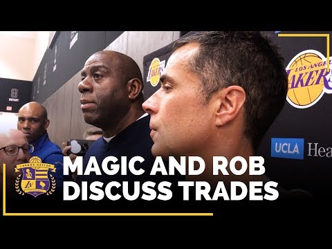 Video: Magic Johnson And Rob Pelinka Discuss Lakers Trade Of Jordan Clarkson, Larry Nance Jr.