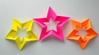 Звезда из бумаги Оригами поделки к Дню Победы 9 мая, 23 февраля, Новый год