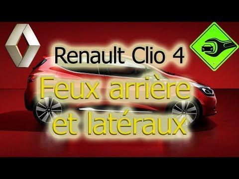 Renault Clio 4 | Feux arrière et latéraux (remplacement des lampes)