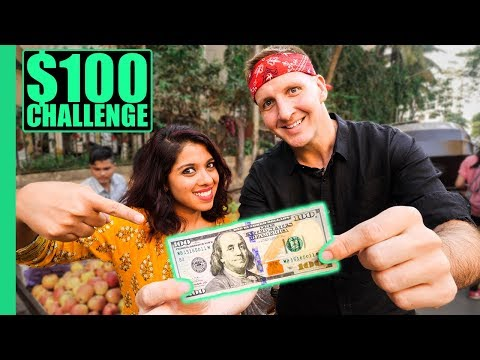INDIAN Street Food $100 CHALLENGE in MUMBAI! Best Street Food in Mumbai!