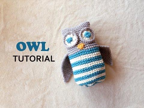 Owl Toy Tutorial [Loom Knitting]