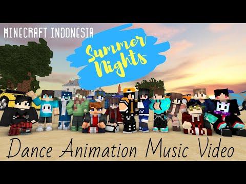 "[Minecraft Indonesia] ""SUMMER NIGHTS"" (Dance Animation Music Video)"