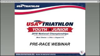 Pre-race webinar 2018 USA Triathlon Youth & Junior National Championships