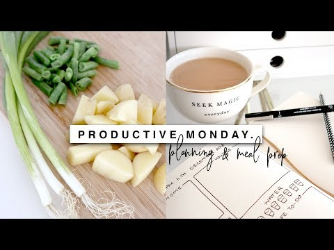 Productive Monday! Declutter, Meal Prep & Planning!