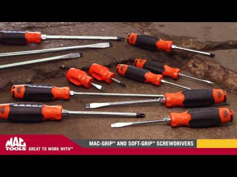 12-PC. Mac-Grip™ Combination Screwdriver Set - Orange
