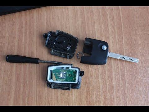 сменить батарейку в ключе форд фокус