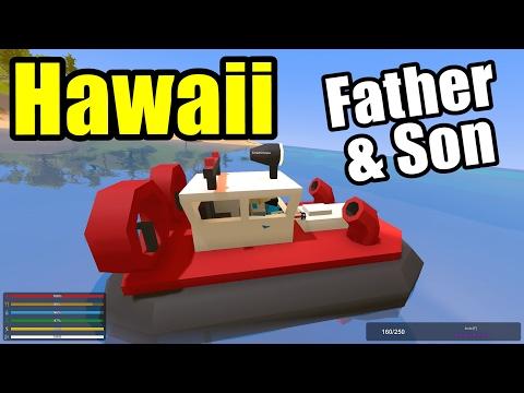Coast Guard Rescue Heroes!! Father & Son Unturned (Unturned Hawaii Map) (видео)