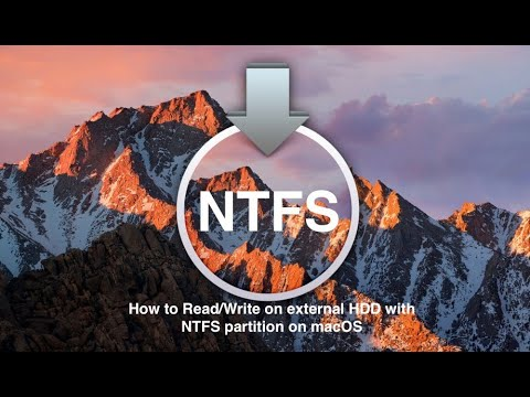 How to mount NTFS hard drive on Mac OS Mojave - 100% free - #Mountyapp #Tinytool #NTFS #MacOSMojave