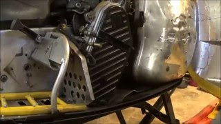6. How to change chaincase oil and top sprocket on a ski-doo rev. LWS ep.3