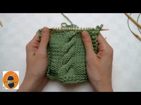 Stricken wir! Muster 6 – Einfaches Zopfmuster nach rechts