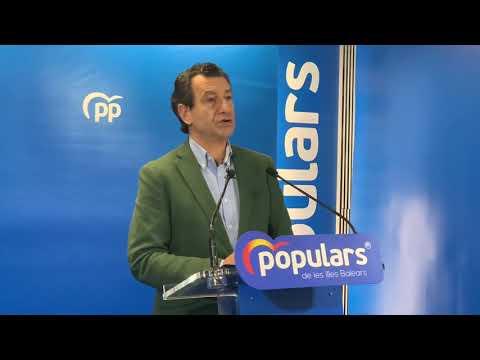 Company anuncia que el PP revocarà el canvi de carrers de Palma en el Ple de demà