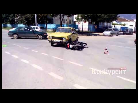 Кола и мотор се удариха във Враца