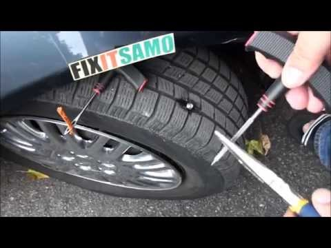 Video DIY How to Fix a Flat Tire EASY! download in MP3, 3GP, MP4, WEBM, AVI, FLV January 2017