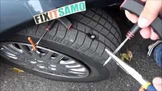 DIY How to Fix a Flat Tire EASY! - YouTube