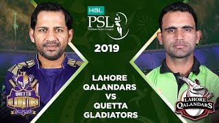 Match 17: Full Match Highlights Lahore Qalandars vs Quetta Gladiators | HBL PSL 4 | HBL PSL 2019