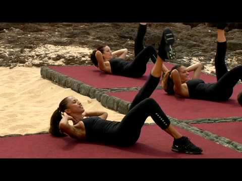 Leg Lift Crunch – 1:45 min abs workout from Gilad's Lord of the Abs