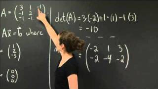 Solve A Linear System Using Matrices | MIT 18.02SC Multivariable Calculus, Fall 2010