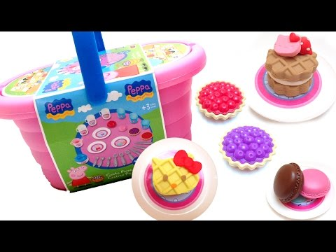 pig - Beautiful Peppa Pig Picnic Basket Peppa Pig and Hello Kitty Pastry Shop Peppa Pig Toys Cestino Pic Nic ✿◕ ‿ ◕✿ Angry Birds Surprise Eggs Video Review https://www.youtube.com/watch?v=fL...