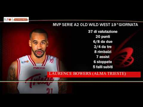 Serie A2 Old Wild West: MVP 19. giornata Laurence Bowers
