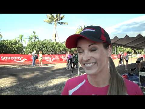 Suzy Favor Hamilton before Foot Locker CC Champs 2011