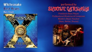 Simone Carnaghi performing Whitesnake - Best years (Bass cover)