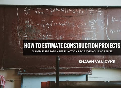 How to Estimate Construction Projects Spreadsheet Functions Google Sheets