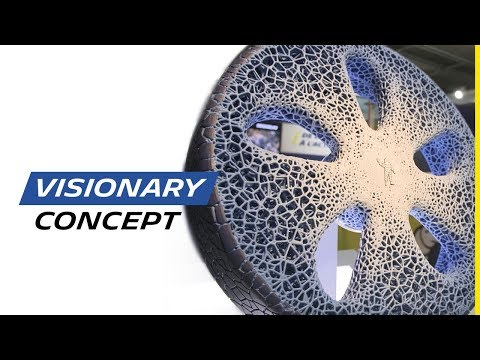 """Michelin показал безвоздушные шины будущего, похожие на кораллы и умеющие """"разговаривать"""" с автомобилем"""