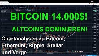 BITCOIN 14 000$! ALTCOINS DOMINIEREN den Markt Marktübersicht und Analyse Bitcoin, Ethereum, Ripple,