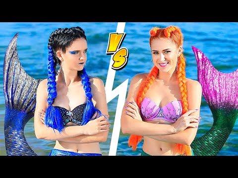 ¡Desafío De Maquillaje! ¡10 Maquillajes De Sirena Buena vs Sirena Mala!