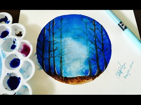 DIBUJO SUPER FACIL DE HACER EN ACUARELAS- HOW TO DRAW IN WATERCOLOR- LOS TUTOS