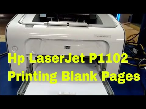 Hp LaserJet P1102 Printing Blank Pages