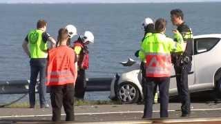 Zwaar ongeval Afsluitdijk veroorzaakt lange file