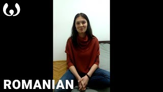 This video was recorded by Nick Panzarella in Cluj Napoca, Romania, where he was traveling at the time. Romanian is spoken by at least 24 million people, primarily in the European nations of Romania, where it is nationally official, and Moldova, where it is also called Moldovan.Help us caption & translate this video!http://amara.org/v/7hP9/
