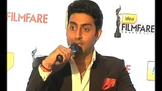 Abhishek Bachchan Talks About 57th Idea Filmfare Awards 2012