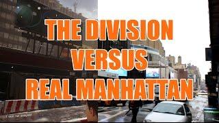 Confronto tra la Manhattan del gioco e quella reale