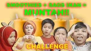Video Smoothies Challenge + Saos Ikan Sampe Muntah - Challenge Gen Halilintar Kids MP3, 3GP, MP4, WEBM, AVI, FLV Juni 2019