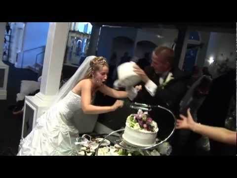 Bloody Cake Smash Between Bride and Groom