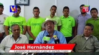 José Hernández oficializado como candidato a las Primarias de la Unidad por Copei en Trujillo