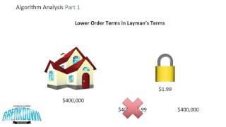 Big O Algorithm Analysis Part 1 - Big Oh