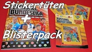 Topps Bundesliga  Offizielle Sticker Sammlung 2016 2017 unboxing new Sticker mit limitierten Sticker, Euro 2016 teams, Euro 2016 groups, Euro 2016 matches, video Euro 2016, euro 2016