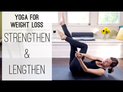 yoga - 40 min Yoga For Weight Loss series continues with this Strengthen and Lengthen sequence! Learn proper alignment and how to infuse mindful energy and awarenes...