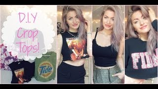 D.I.Y: Crop Tops! ♡ - YouTube