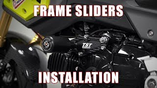 10. How to install Frame Sliders on a Honda Grom by TST Industries