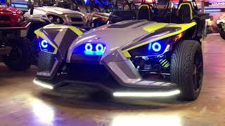 5. 2018 Polaris Slingshot SLR LE - RGB Halos, Brow Lights, Spoiler Bladez from Slingmods and TricLED